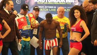 IRISH TO CAUSE UPSET IN BOSTON? - TEVIN FARMER v JAMES TENNYSON - OFFICIAL WEIGH IN (BOSTON)