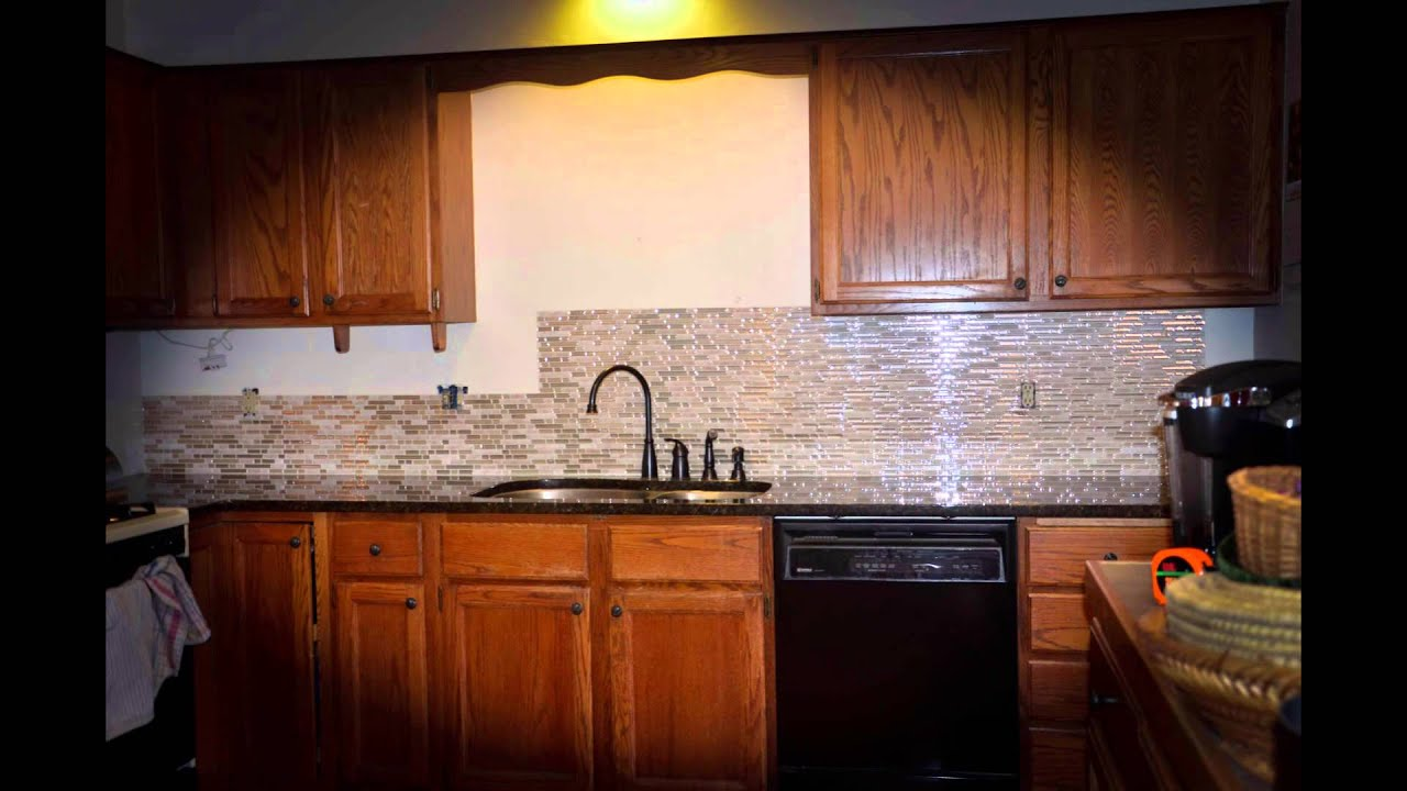 Peel and stick quick backsplash installation smart tiles youtube dailygadgetfo Image collections