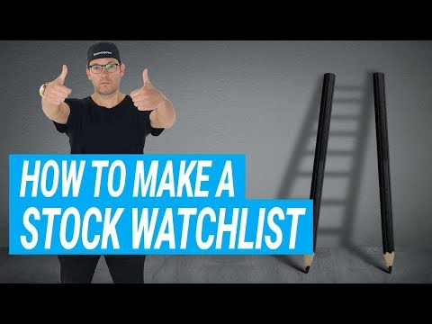 How To Make A Stock Watchlist with Tim Bohen
