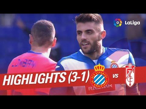 Resumen de RCD Espanyol vs Granada CF (3-1)