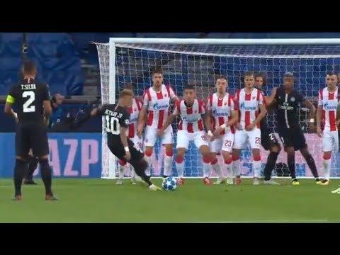Neymar Champions League HAT TRICK | PSG vs. Red Star Belgrade