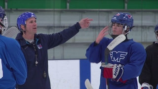 Retired Tampa Bay Lightning star Martin St. Louis turns his attention to coaching... his kids