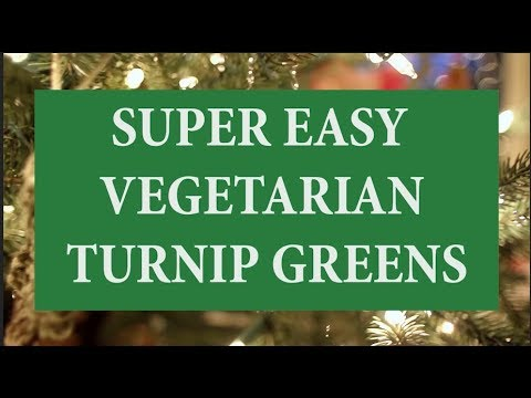 A VEGETARIAN DISH   SUPER EASY TURNIP GREENS IN CROCKPOT