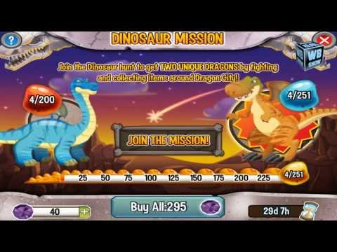 Dragon City: Dinosaur Island - Brontosaurus + T-Rex Dragon Preview! [Part 1]