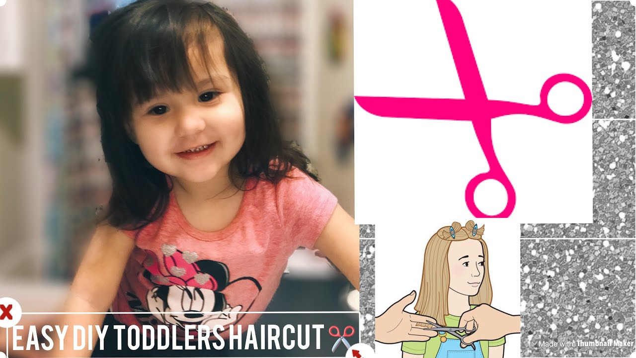 How To Cut Little Girls Hair Easy Little Girls Haircut Tutorial