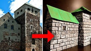 Building a Miniature Castle Keep for D&D or Wargaming (Modular)