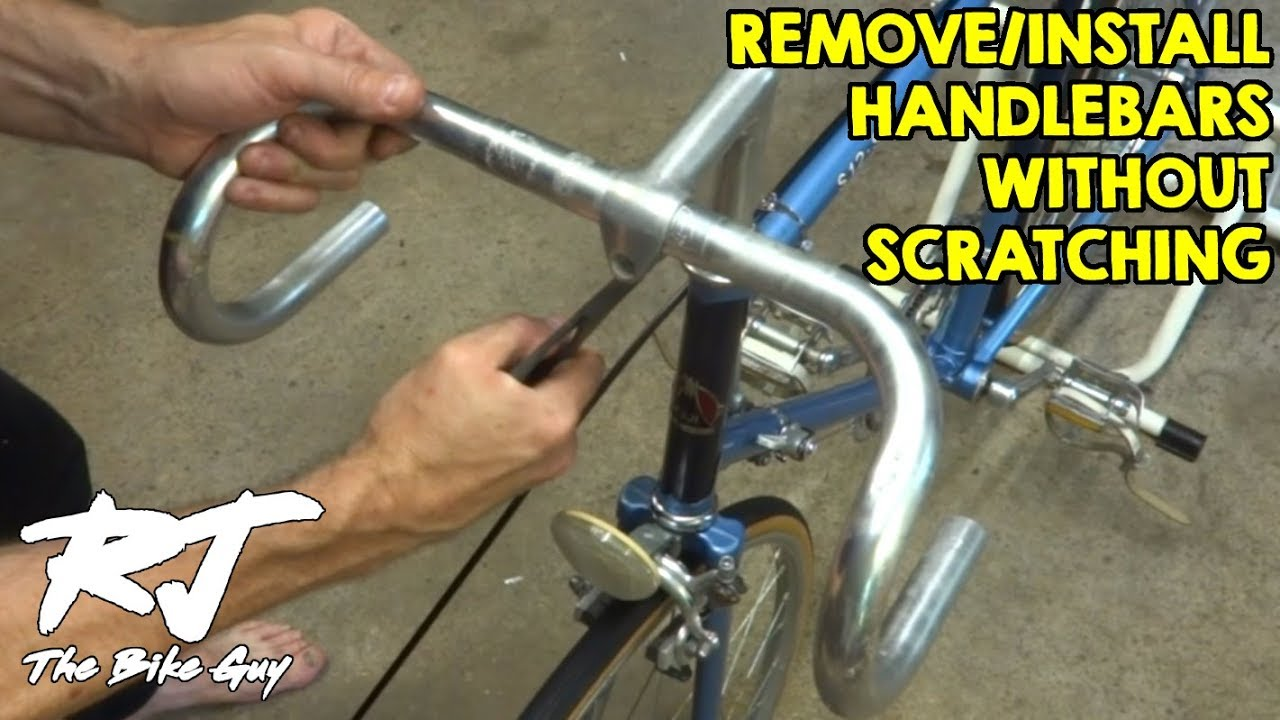 Remove Install Bike Handlebars Without Scratching In Quill Stem