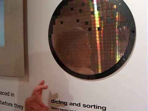 Intel Silicon Becomes A Computer 3 Dicing A Wafer Youtube