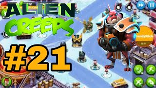 Alien Creeps TD Level 21 Missions vs Predators Gameplay iCandyRich