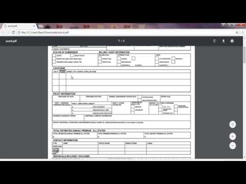 Worker Compensation Accord Form  Youtube