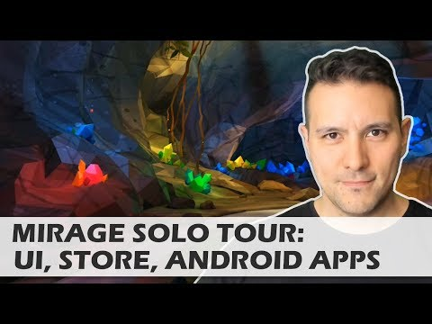 Lenovo Mirage Solo:  UI Tour / Playing  Android Apps & Games In VR On A Virtual Screen! Awesome!