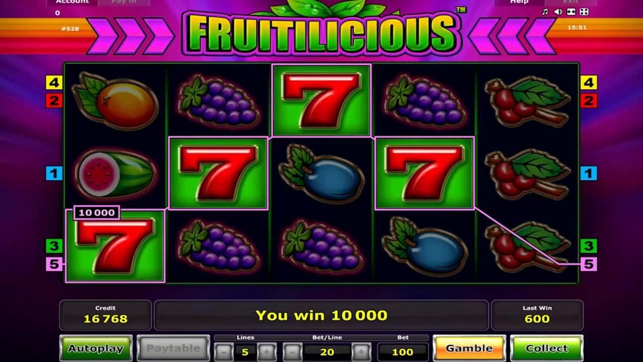 Манящие фрукты на игровом слоте «Fruitilicious»