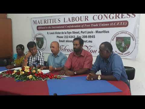 Point de presse de Mauritius Labour Congress