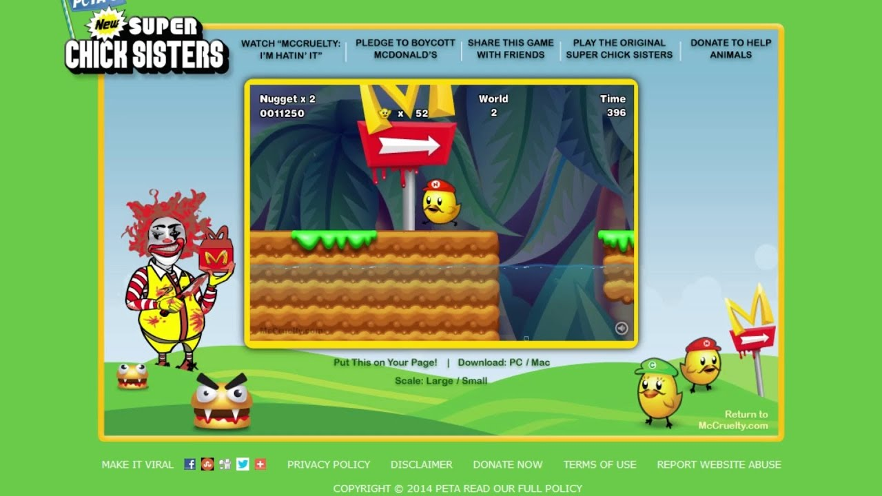 new super chick sisters peta games youtube