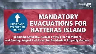 Hurricane Isaias Update August 1, 2020