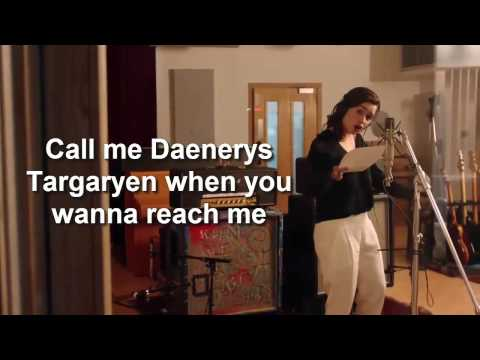 Game of Thrones: The Musical – Emilia Clarke Teaser  lyrics 