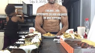 @blake_201 Attempts 20,000 Calories in One Sitting. 20K Calorie Challenge