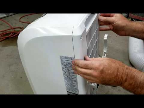 Portable air conditioner problem turns off then back on