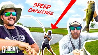 Ultimate SPEED FISHING CHALLENGE!! ( HE ALMOST DROWNED! )