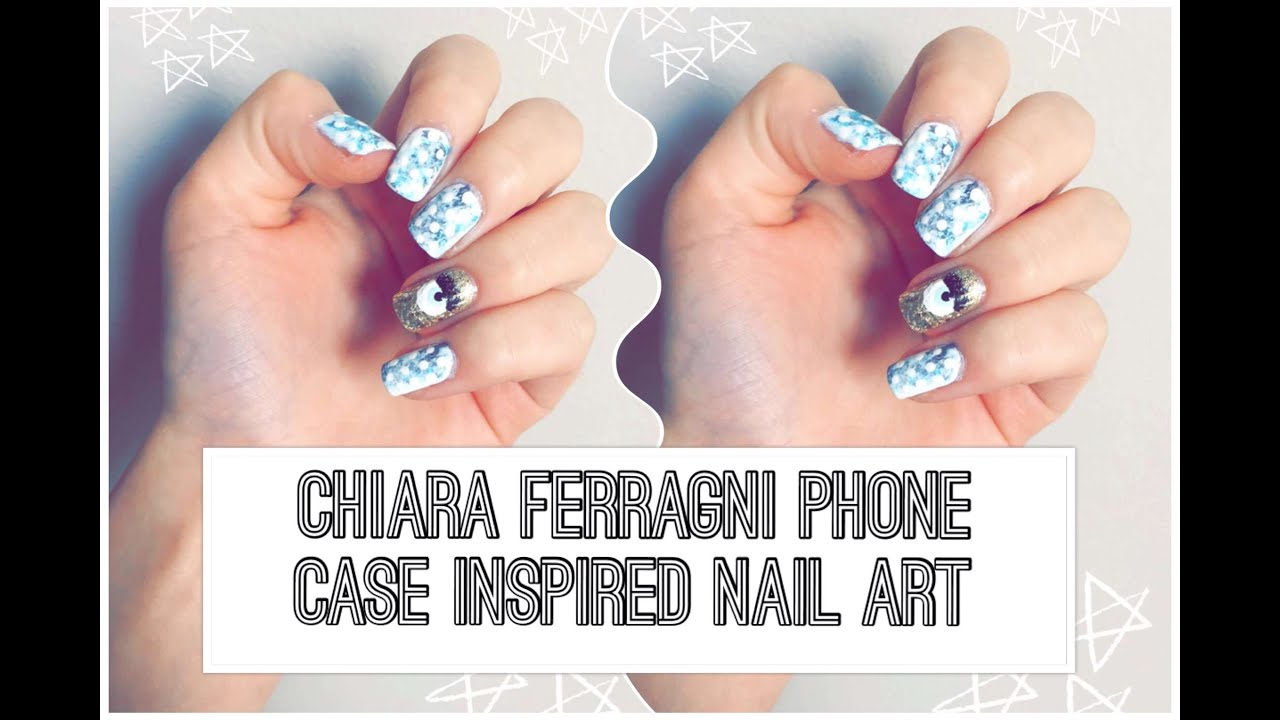 Chiara Ferragni Phone Case Inspired Nail Art - YouTube