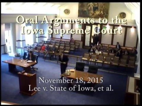 14–1386 Lee v. State of Iowa, et al., November 18, 2015