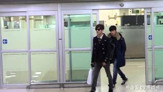 141225 동방신기 TVXQ Yunho & Changmin 김포공항 입국