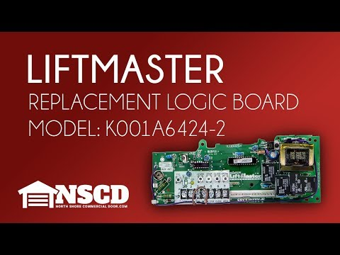 LiftMaster Medium Duty Commercial Opener Logic Board with Receiver # K001A6424