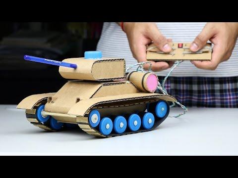 Wow! Amazing RC Tank DIY at Home - Mini Gear RC Tank