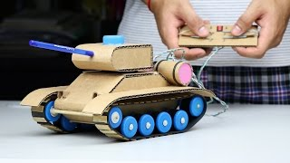 Wow! Amazing RC Tank DIY at Home - Mini Gear RC Tank Video