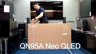 QN95A Samsung Neo QLED 2021 Unboxing, Setup And 4K HDR Demos