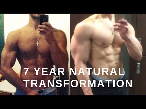 Natural Bodybuilding 7 Year Transformation