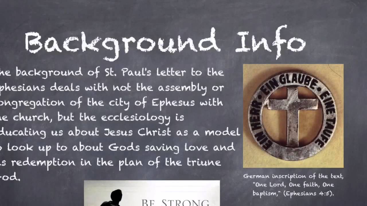 an analysis of st paul first letter to the ephesians 1 paul, by the will of god an apostle of christ jesus, to god's holy people, faithful in christ jesus 2 grace and peace to you from god our father and from the lord jesus christ 3 blessed be.