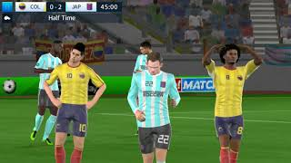 Colombia vs Japan - Dream League Soccer 2018 - Android Gameplay #159