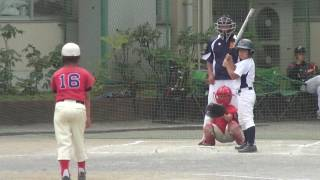 四年生大会を睨み、練習試合です。 釜利谷小学校にて。