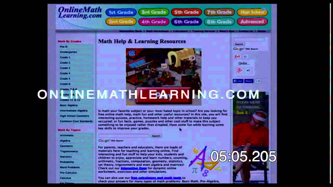 10 in 10 - 10 Math Websites - YouTube