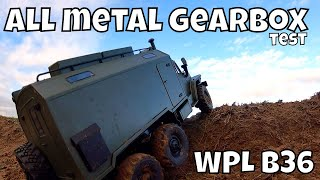 WPL B36 Ural, single speed all metal Gearbox test! Awesome Torque!