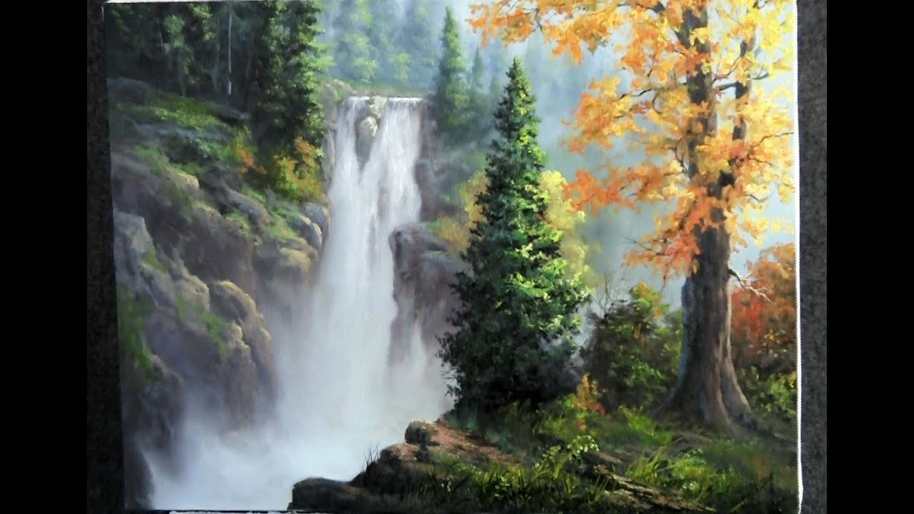 Paint with Kevin Hill - Rushing Waterfall - YouTube