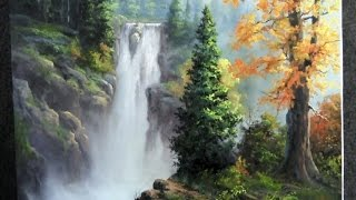 Paint with Kevin Hill - Rushing Waterfall