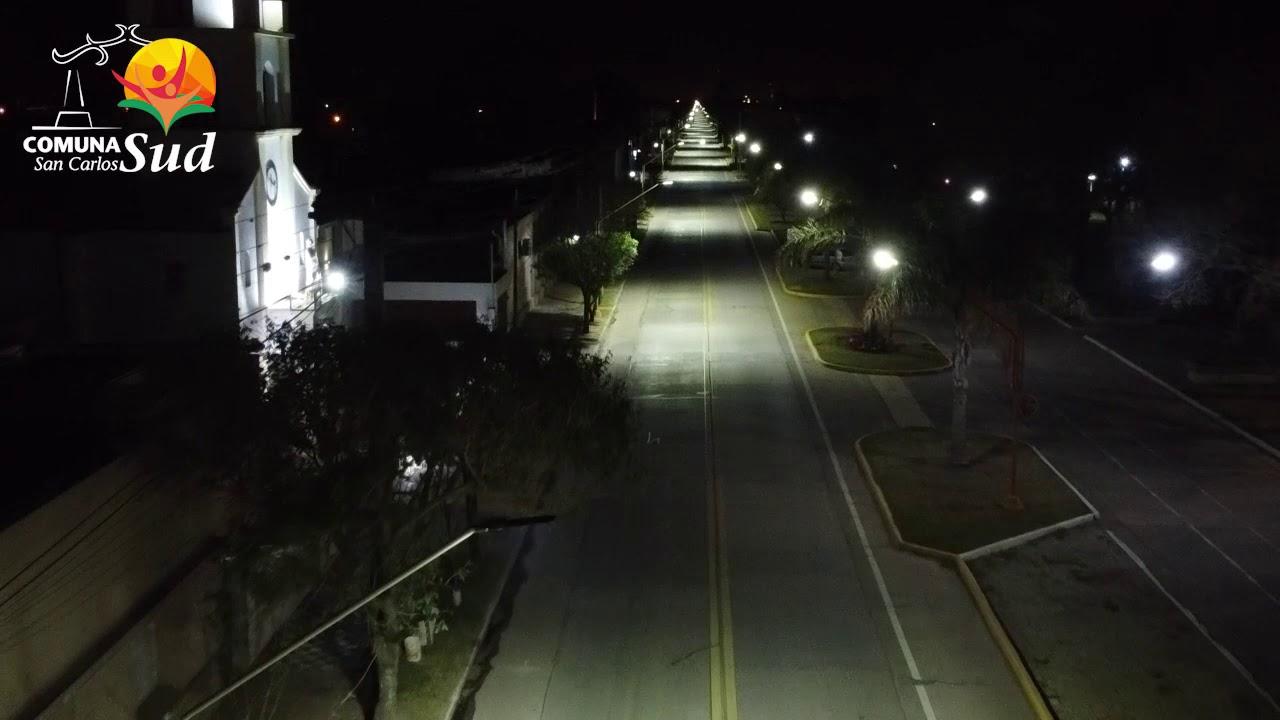 La Comuna de San Carlos Sud colocó luminarias