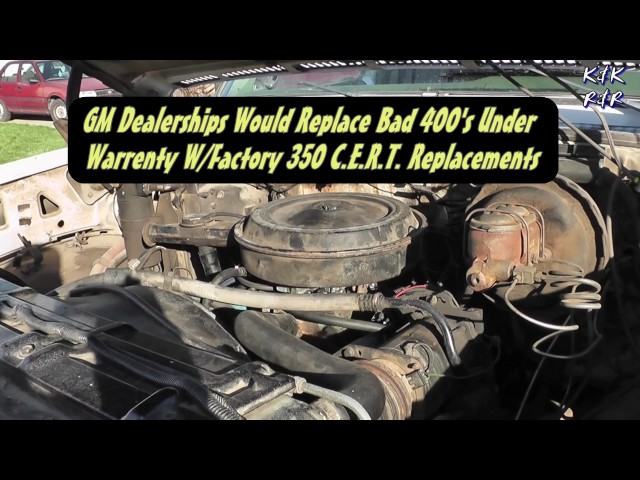 What Spun Rod Bearings Sound Like In A Chevy 5 7L 350/400 V8 1976