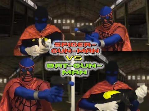 Bat man squirt gun