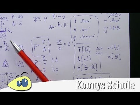 Alles zum Druck, Formeln, Pascal, Bar, Physik from YouTube · Duration:  13 minutes 4 seconds