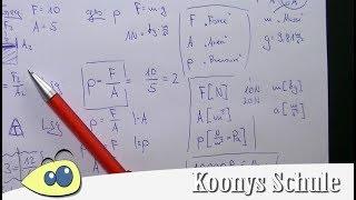 Alles zum Druck, Formeln, Pascal, Bar, Physik