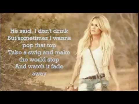 Carrie Underwood~Smoke Break lyrics