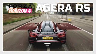 Forza Horizon 4 | Koenigsegg Agera RS Gameplay (Top Speed, Tunnel Sound, Launch Control)