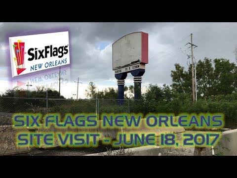 ABANDONED Six Flags New Orleans (Jazzland) Theme Park (New Orleans, Louisiana)