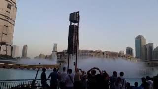 Dubai Fountain show 6.30 p.m. show 21.08.2016