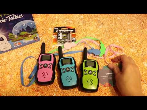 WISHOUSE 3 WALKIE TALKIE FOR KIDS RECHARGEBLE REVIEW