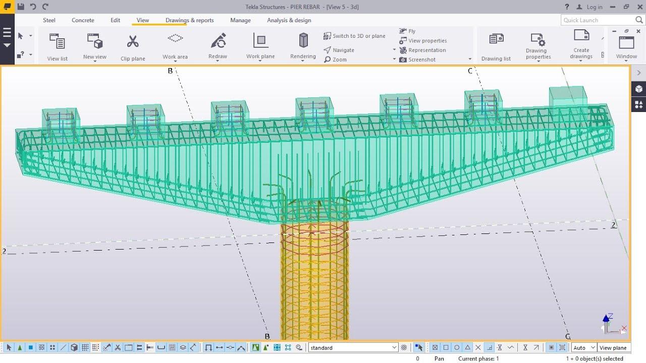 Bridge Pier Reinforcement In Tekla Structures 2016 Youtube