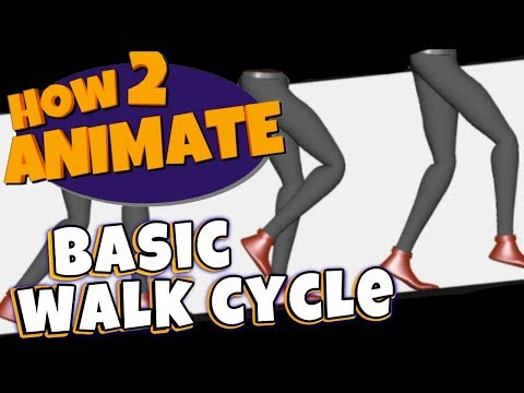 Video Game Walk Cycle Tutorial | 3D Maya Animation Tutorial | HOW 2 ANIMATE
